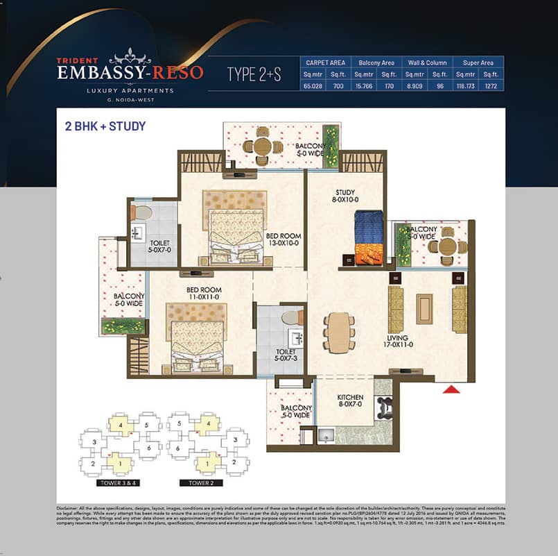 Trident Embassy Floor Plan
